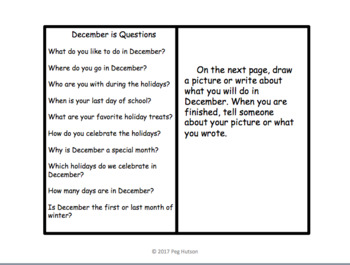 December Is...: An Interactive Book for Older Students