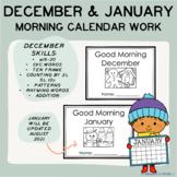 December & January Good Morning Calendar Work