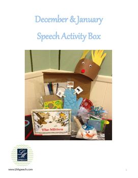 December/January Speech Therapy Ideas