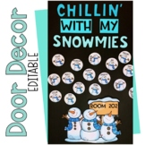 December January Winter Snowman Door Decor