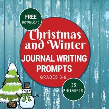 December/ January Writing/Journal Prompts Freebie