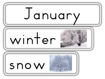 December, January and February Word Walls