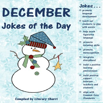 December Jokes of the Day for Middle School (Grades 5, 6, 7, 8)
