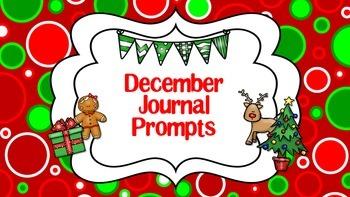 December Journal Prompts Calendar