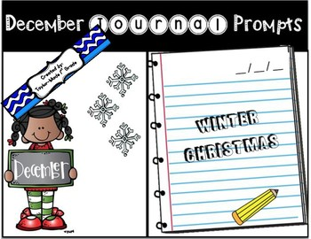 December Journal Prompts - NO PREP & PAPERLESS