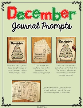 December Journal Prompts - No Prep Writing Center
