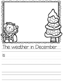 December Journal Prompts (differentiated prompts for daily journal writing)