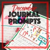 December Journal Prompts for Daily Writing - Handwriting Without Tears Practice