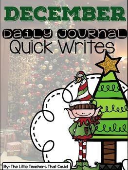 December Journal Quick Writes