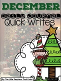 December Journal Quick Writes
