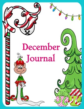 December (Christmas) Journal writing papers