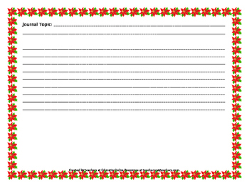 CCSS December Journal Writing Activities
