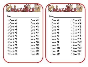 December Journal Writing Task Cards