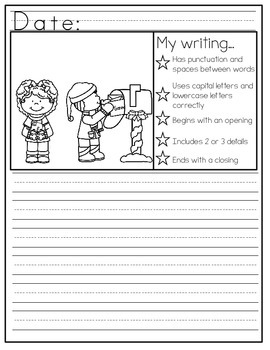 December Journal Writing - With Picture Prompts, Checklists, and Writing Goals