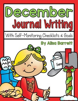 December Journal Writing - With Picture Prompts, Checklist