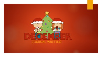 December Journal Writing/ prompts/ free writing/ independent work