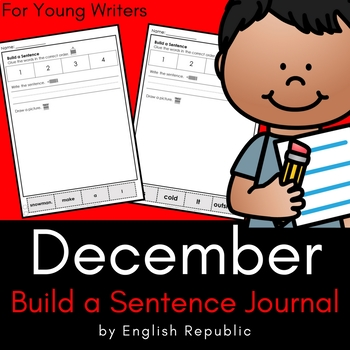 December Build a Sentence Journal for Young Writers