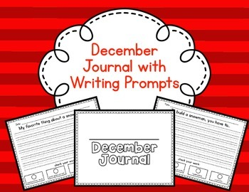 December Journal with 10 Prompts and Editing Checklist