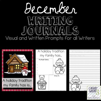 December Journals with Visual and Written Prompts
