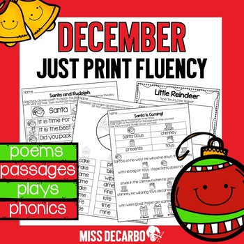 December Just Print Fluency Pack