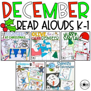 December K-1 Bundle: Interactive Read-Aloud Lesson Plans Curriculum