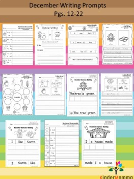 December K-1 Writing Prompts and Activities by KinderMomma ...
