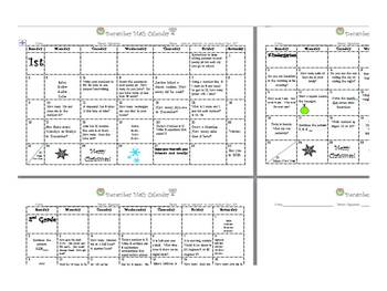December K-2 Math Calendars
