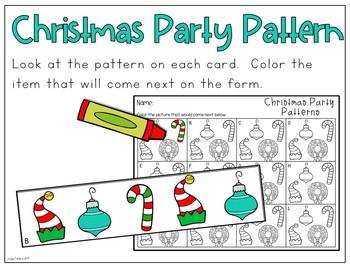 December Kindergarten Centers (Christmas Version Free Sample)