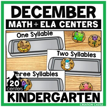 December Kindergarten Centers - Math and Literacy