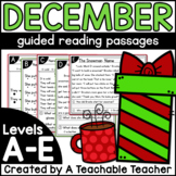 December Kindergarten Guided Reading Passages and Question
