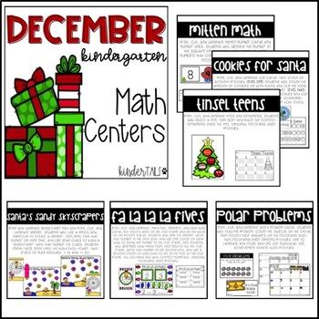 Christmas Kindergarten Math and Literacy Centers