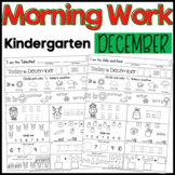 Morning Work: Kindergarten December Packet (Winter Common Core Differentiated)