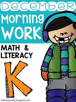 December Kindergarten Morning Work Math / Literacy