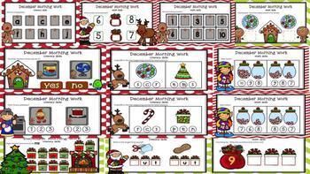 December Kindergarten Morning Work for Google Classroom