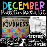 December Kindness Bulletin Board Kit with Reflective Journal