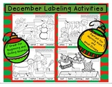 Christmas Labeling Activities Set 1 Beginning-Ending Sounds #novparadise