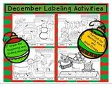 December Labeling Activities Set 1 Beginning-Ending Sounds