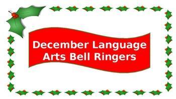 December Language Arts Bell Ringers