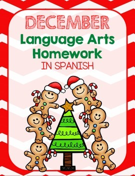 December Language Arts Homework Packet *First Grade*