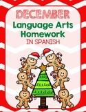 December Language Arts Homework Packet *First Grade*