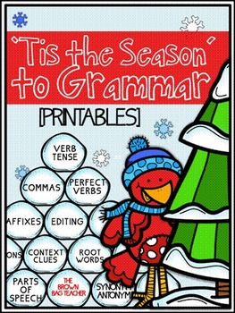 December Language Printables: Tis' the Season to Grammar
