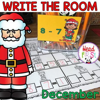 December Learning Hunt - Write the Room- I Spy ELA/Math Centers