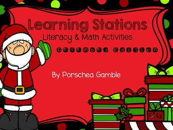 December Learning Stations for Kindergarten