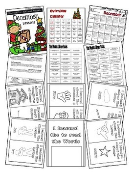 December Lesson Plans Series 2 [Four 5-day Units] Includes Patterns and Printabl