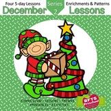 December Lessons Preschool Pre-K Kindergarten Curriculum BUNDLE S2