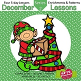 December Lesson Plans Series 2 [Four 5-day Units] Includes