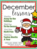 December Lesson Plans Series 3 [Four 5-day Units]