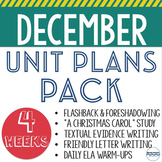 December Lesson and Unit Plans - BUNDLE - 5 units to teach all December long!