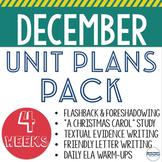 December Lesson and Unit Plans - BUNDLE - 5 units to teach