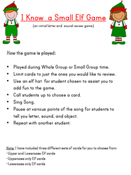 December Letter and Sound Review Game